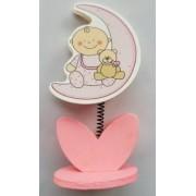 Marturie suport poze bebe roz 12cm