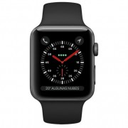 Apple Watch Series 3 GPS + Cellular 42mm Aluminio Gris Espacial Con Correa Deportiva Negra