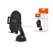 Univerzális Qi vezeték nélküli autós tartó/gyorstöltő automatikus nyitó funkcióval - 10 W - Extreme SIR1 - Qi szabványos - fekete
