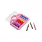Set 12 creioane colorate triunghiulare Princess Melissa Doug