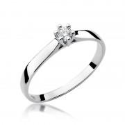 Biżuteria SAXO 14K Pierścionek z brylantem 0,08ct W-222 Białe Złoto RATY 0% | GRATIS WYSYŁKA | GRATIS ZWROT DO 1 ROKU | 100% ORYGINAŁ!!