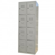 VESTIAR METALIC CU 8 USI fara accesorii, 600x450x1800 mm (LxlxH), ECO+