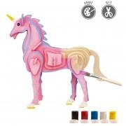 3D Puzzle De Pintura Forma De Unicornio