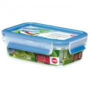 EMSA (Groupe SEB Deutschland GmbH) EMSA Clip & Close Frischhaltedose rechteckig, Klassikformat, Ideal für den Transport flüssiger Lebensmittel, Fassungsvermögen: 550 ml