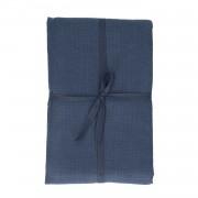 Dille&Kamille Nappe, coton bio, bleu foncé chiné, 145 x 300 cm