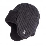 Zimowa czapka, uszatka męska - Ciemnoszary