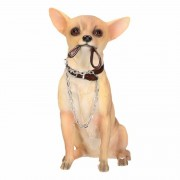 Geen Beeldje Chihuahua hond met riem 18 cm - Action products