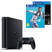 Конзола PlayStation 4 Slim 500GB Black, Sony PS4+Игра FIFA 19 за PlayStation 4 - PS4+Игра Mortal Kombat XL PS4