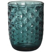 Theelichthouder Kristal Donker Turquoise Chique Shine
