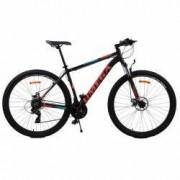 Bicicleta mountainbike Omega Thomas 27.5 2018 negru albastru portocaliu