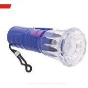 Mini LED Flashlight Button Cell Powered (included) Small Torch Light Random Colors