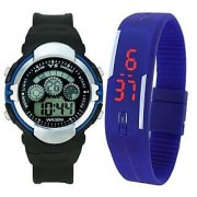 Crude Smart Combo Digital Watch-rg527 With Adjustable PU Strap - for Boy's Kid's