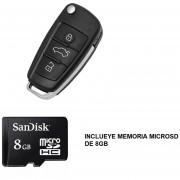 REDLEMON Cámara Oculta En Forma De Llave De Auto-Incluye MicroSD 8 GB