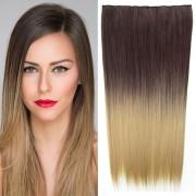 Clip in vlasy - 60 cm dlouhý pás vlasů - ombre styl - odstín 4 T 24 - Světové Zboží