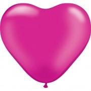 """Baloane latex in forma de inima, Pearl Magenta, 6"""", Qualatex 17733"""