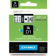 Dymo 45803 (S0720830) Tape Zwart op wit (19 mm)