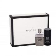 Gucci Guilty Pour Homme set cadou EDT 50 ml + Deodorant stick 75 ml pentru bărbați