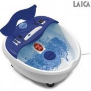 Cadita de hidromasaj picioare Laica PC1009 Produce bule Vibratii Lumina infrarosie Alb Albastru