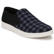 Style Shoe Men's Black Slip on Mess Canvas Shoes