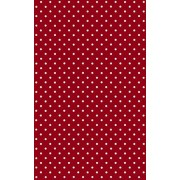 "DC Fix d-c-fix calcomanía decorativo, rojo con lunares/rojo Petersen, 17.71"" x 59"" Roll, Rojo (Polka Dot Red)"