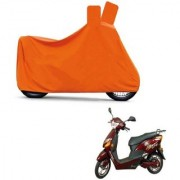 AutoAge Full Orange Two Wheeler Cover For Electric Optima Plus