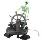 Aquarium skelet aan het stuur