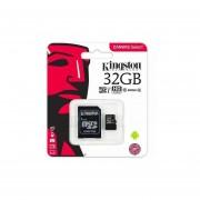 Memoria Kingston micro SD 32GB clase 10 con adaptador