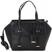 Nine West Women Casual Black Genuine Leather Sling Bag