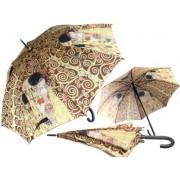 H.C.021-6507 Esernyő 100cm, Klimt: The kiss/Életfa, barna