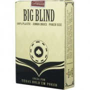 Parksons Big Blind 100 Plastic Jumbo Index Poker Size Playing Cards-(Multicolour)