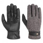 Stetson Guanti in Pelle Herringbone Wool by Stetson in nero-grigio, Gr. 8 HS