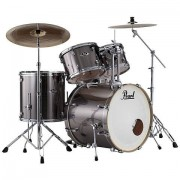 "Pearl ""Export 22"""" Smokey Chrome Complete Drumset"""