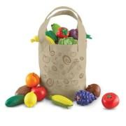 Set de sortare culori pentru copii Learning Resources - Sacosa cu legume si fructe