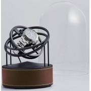 Bernard Favre Planet Black&Brown leather watch winder