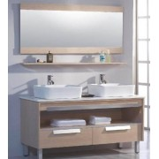 items-france MILANO - Meuble salle de bain contemporain 140x50x85