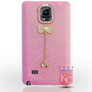 KC Unique 3D Hearts for lover - Cute Heart Design for Girls. Soft Back Cover Samsung Galaxy Note 4 (Pink)