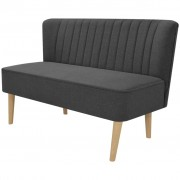 vidaXL Canapea din material textil, 117 x 55,5 x 77 cm, gri închis