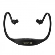 Bluetooth V4.0 auriculares estereofonicos de la venda de los deportes con la ranura de TF - negro