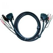 DVI D kábel KVM-hez 1,8 m, 2L-7D02U (1013050)