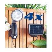 Lunartec Lampes solaires murales à détecteur de mouvement - Par 4