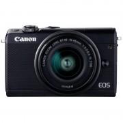 Canon M100 24.2MP WiFi Negra + Objetivo EF-M 15-45mm F3.5-6.3 IS STM