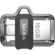 SanDisk Ultra Dual SDDD3-016G-Z46 16 GB Pen Drive(Silver)