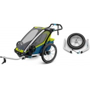 Thule Chariot Sport1, Chartreuse + Joggingkit