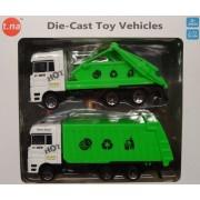 Autós fém teherautó szett 2db Die cast - Tn-1032