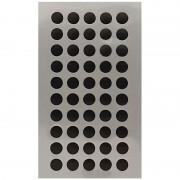 Geen 400x Zwarte ronde sticker etiketten 8 mm