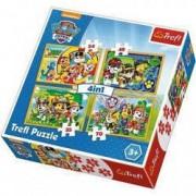 Puzzle Patrula Catelusilor 4 in 1 Trefl