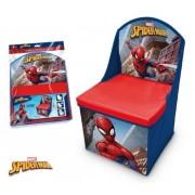 Cutie de depozitare jucarii, functie de taburet cu spatar, Spiderman