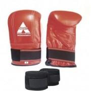 Manusi sac box Anastasia Sport piele naturala culoare rosie marime L cu bandaje incluse
