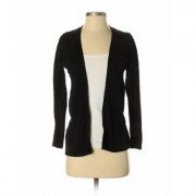 Ann Taylor LOFT Outlet Cardigan Sweater: Black Solid Sweaters & Sweatshirts - Size Small Petite