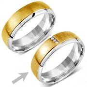 Silvego Snubní ocelový prsten pro ženy VIENNE - RRC2046-Z